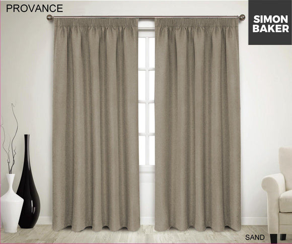Simon Baker | Provance Tape Curtain Sand (Various Sizes)