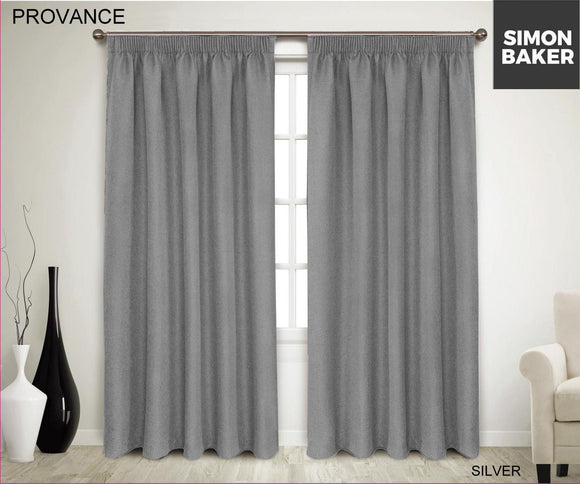 Simon Baker | Provance Tape Curtain Silver (Various Sizes)