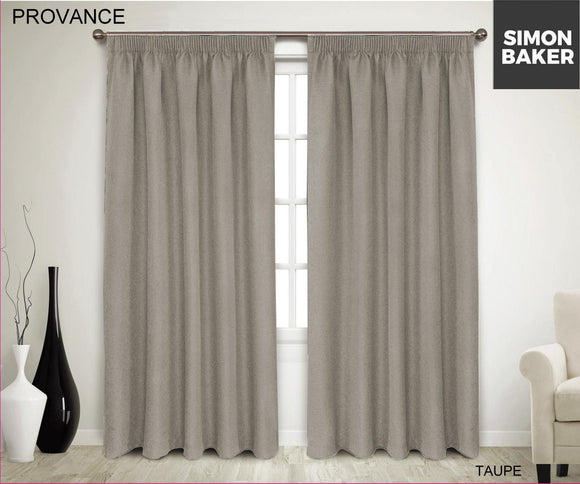 Simon Baker | Provance Tape Curtain Taupe (Various Sizes)