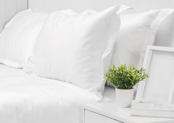 550 Thread Count White Standard Pillow Case Set