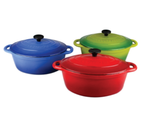Gourmand 4.5L Oval Cast Iron Casserole