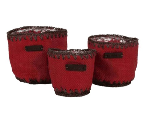 Garden | 3PC RED ROUND POT HOLDER