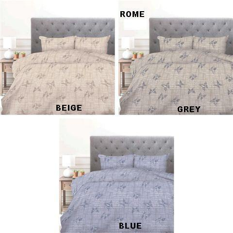 Simon Baker | Rome Printed Duvet Set (Various Colours & Sizes)