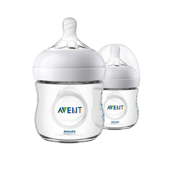 Philips AVENT Natural Feeding Bottle 125ml - Twin Pack