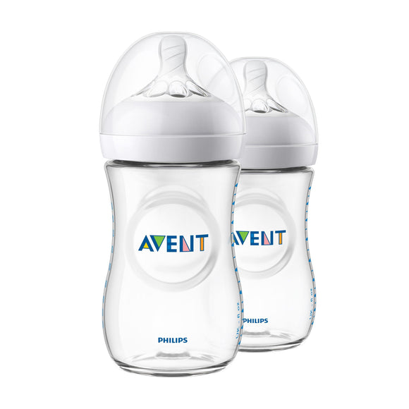 Philips AVENT Natural Feeding Bottle 260ml - Twin Pack