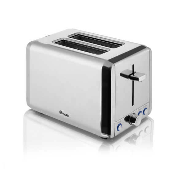 SWAN Classic 2 Slice Polished Stainless Steel Toaster