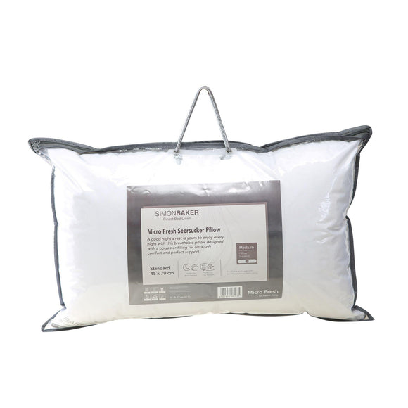 Simon Baker | Micro Fresh Seersucker Pillow Inners (Various Sizes)