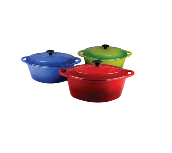 Gourmand 7L Oval Cast Iron Casserole