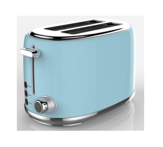 SWAN 2 Slice Stainless Steel Blue Toaster