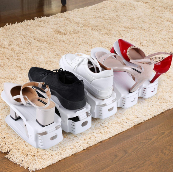 Fine Living Shoe Organizer - Set of 6 - White