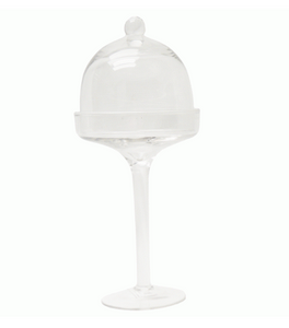2PC CUPCAKE DOME & STAND 27X11CM