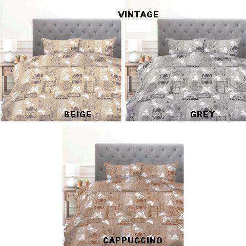 Simon Baker | Vintage Printed Duvet Set (Various Colours & Sizes)
