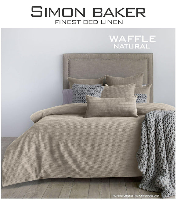 Simon Baker | Waffle Weave Cotton Duvet Cover Set Natural (Various Sizes)