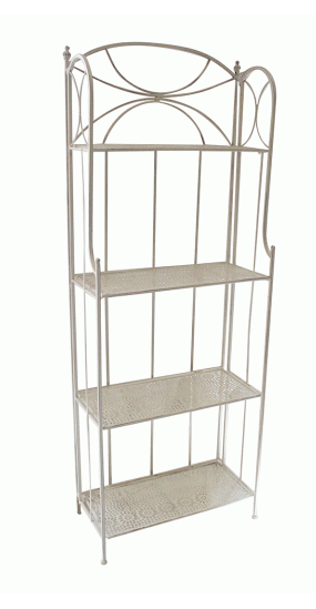 Garden | 4 SHELF STAND CREAM WASHED