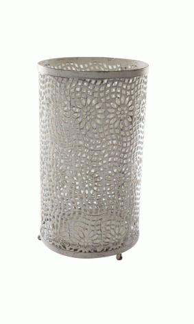 Garden | PATIO CANDLE HOLDER CREAM WASHED