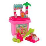 Kids Play Time | Jeronimo Block Bucket - Pink 38pc