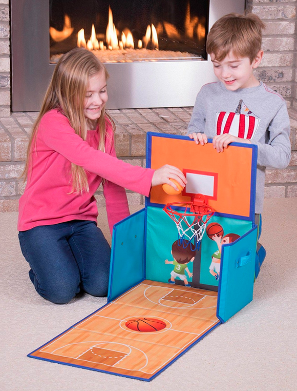 Kids Play Time | Jeronimo - Playmat Storage Box - Basketball