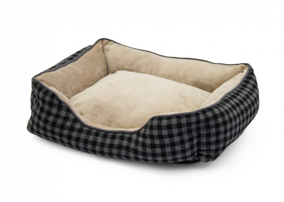 Dog Bed | Rex - Foxly Checkerboard Grey/Brown