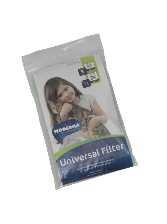 UNIVERSAL CHARCOAL FILTER FOR HOODED CAT LITTER BOXES