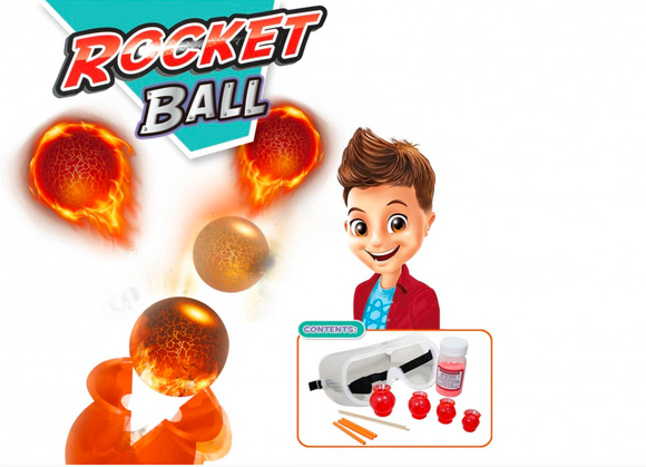 Kids Play Time | Chemical Experiment Series (Rocket Ball)