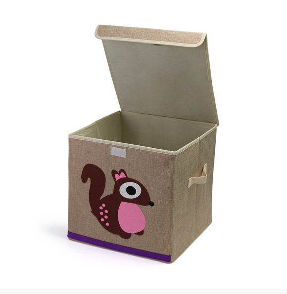 Kids Play Time | Storage box-Animal Canvas Tidies - Squirrel