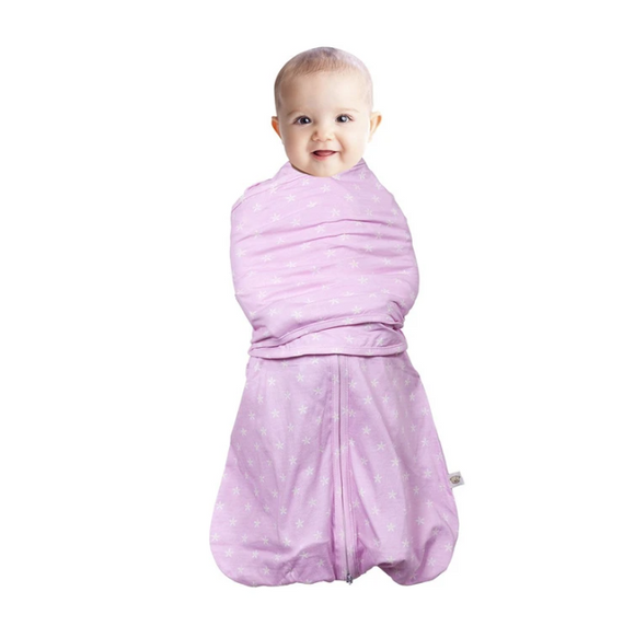 Clevamama 3-in-1 Swaddle Sleep Bag (0-3 months) Pink