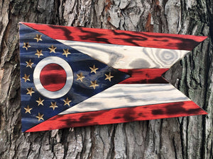 Ohio State Flag | State of Ohio Wood Flag