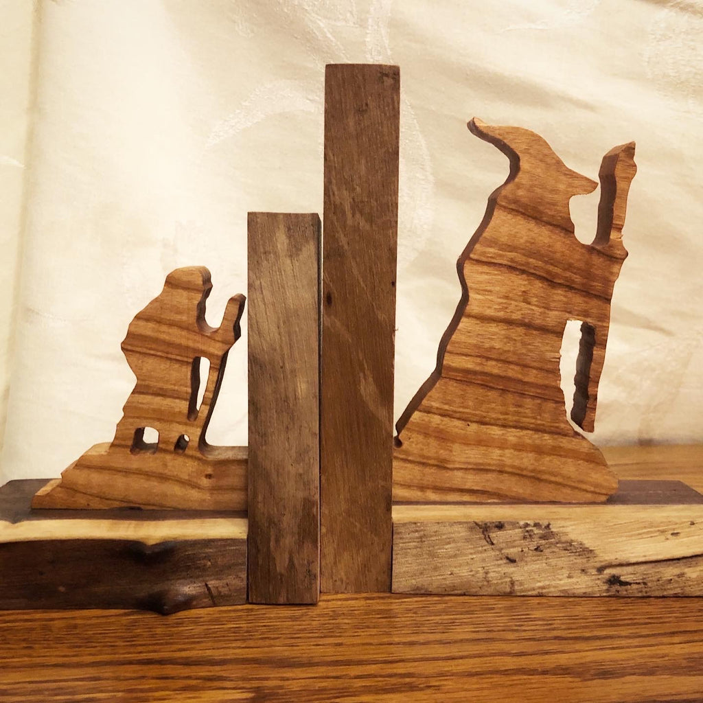 Hobbit Bookends | Bilbo and Gandalf