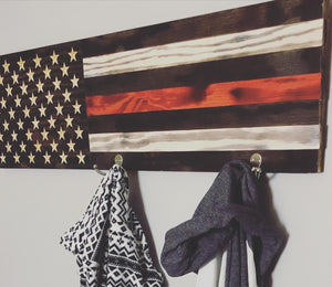 Wood Flag Coatrack