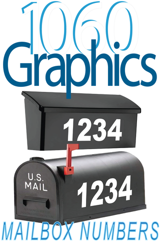 1060 Graphics Reflective Mailbox Numbers