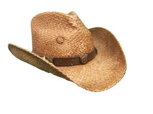 Charlie One Horse Locked and Loaded Straw Cowboy Hat  XL