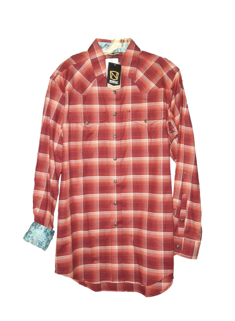 Noble Generations Snap Front Shirt Burgundy - Aces & Eights Western Wear, Inc.