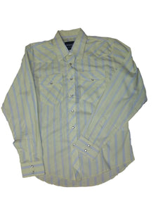 Wrangler Assorted Striped Pearl Snap Boys Western Shirt