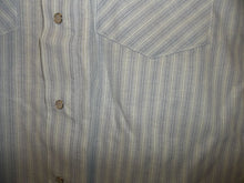 Load image into Gallery viewer, Blue & Teal Stripe Short Sleeve Pearl Snap Shirt
