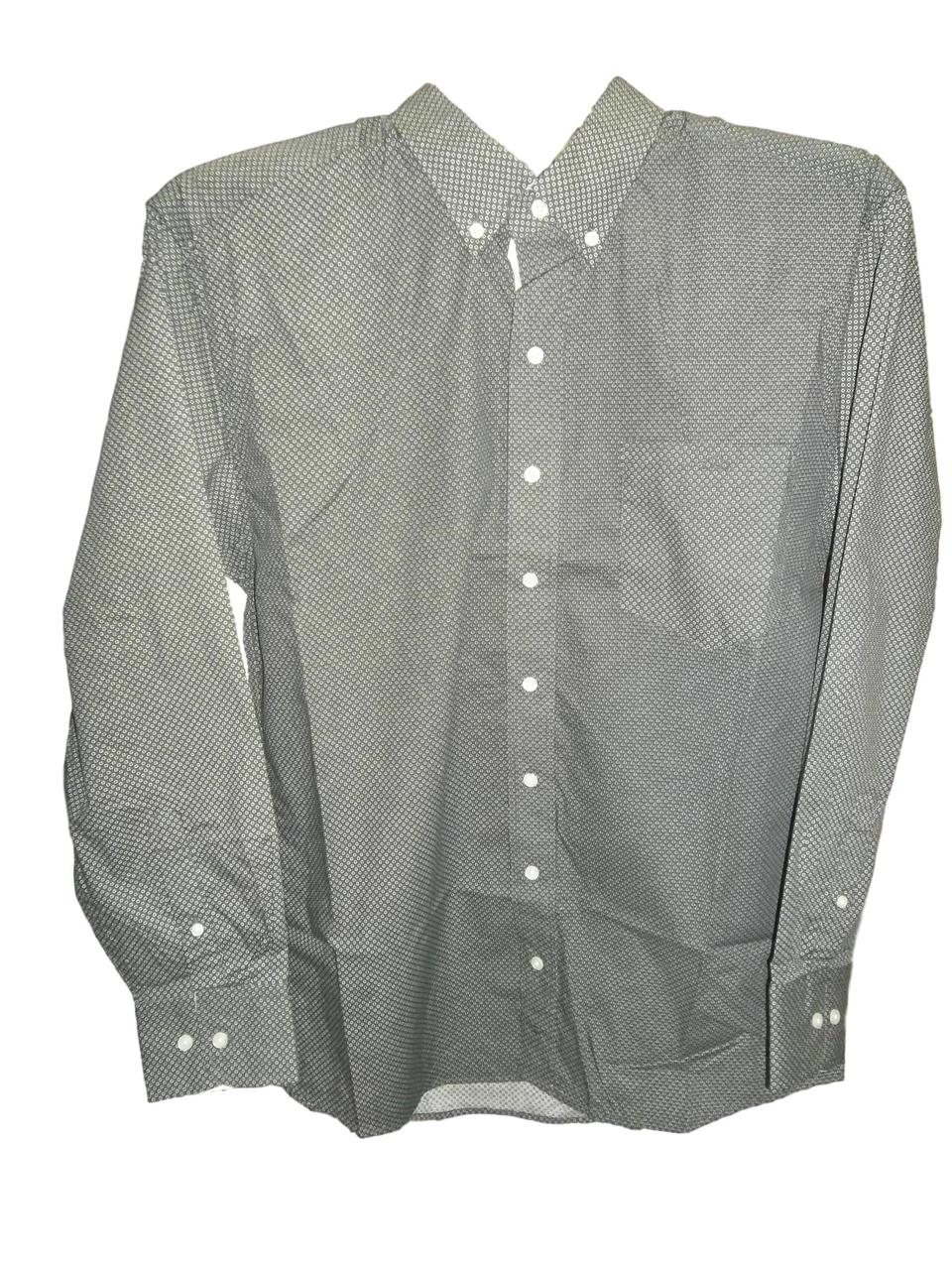 Resistol Mens Grey Western Shirt with Rawlin Buttons