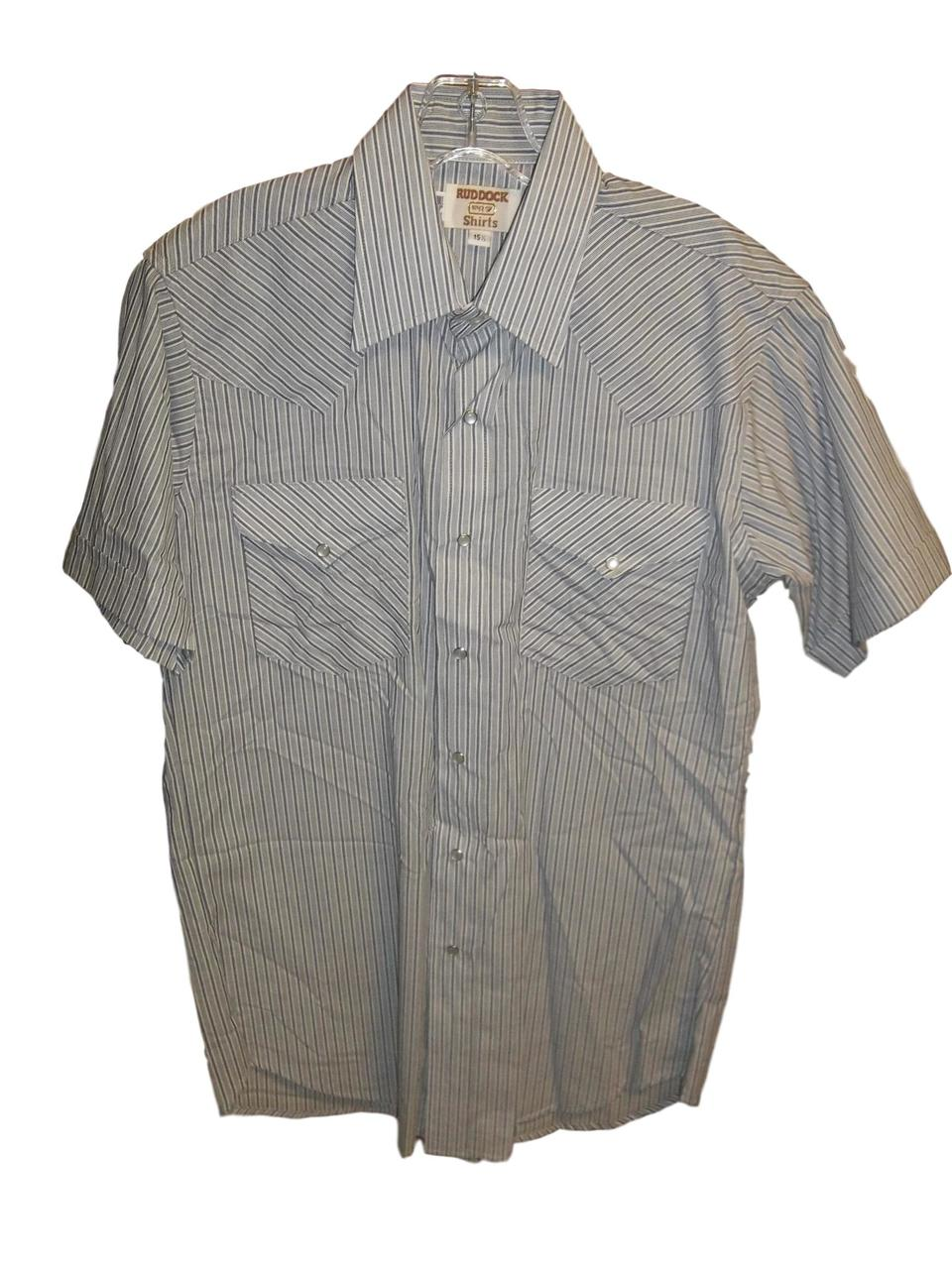 Ruddock Men's Stripped Short Sleeve Western Shirt
