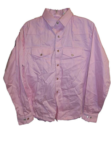 Girl's Pink Western Shirt with Pearl Snaps