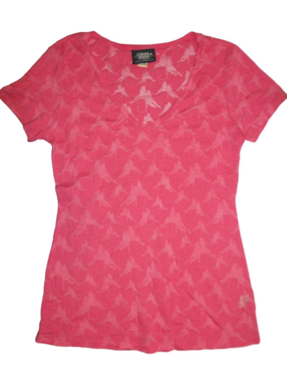 Barrel Racing Pink V Neck
