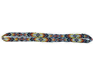 "M&F Western Hatband Unique Stretch Beaded 3/8"" Yellow Brown 02756"
