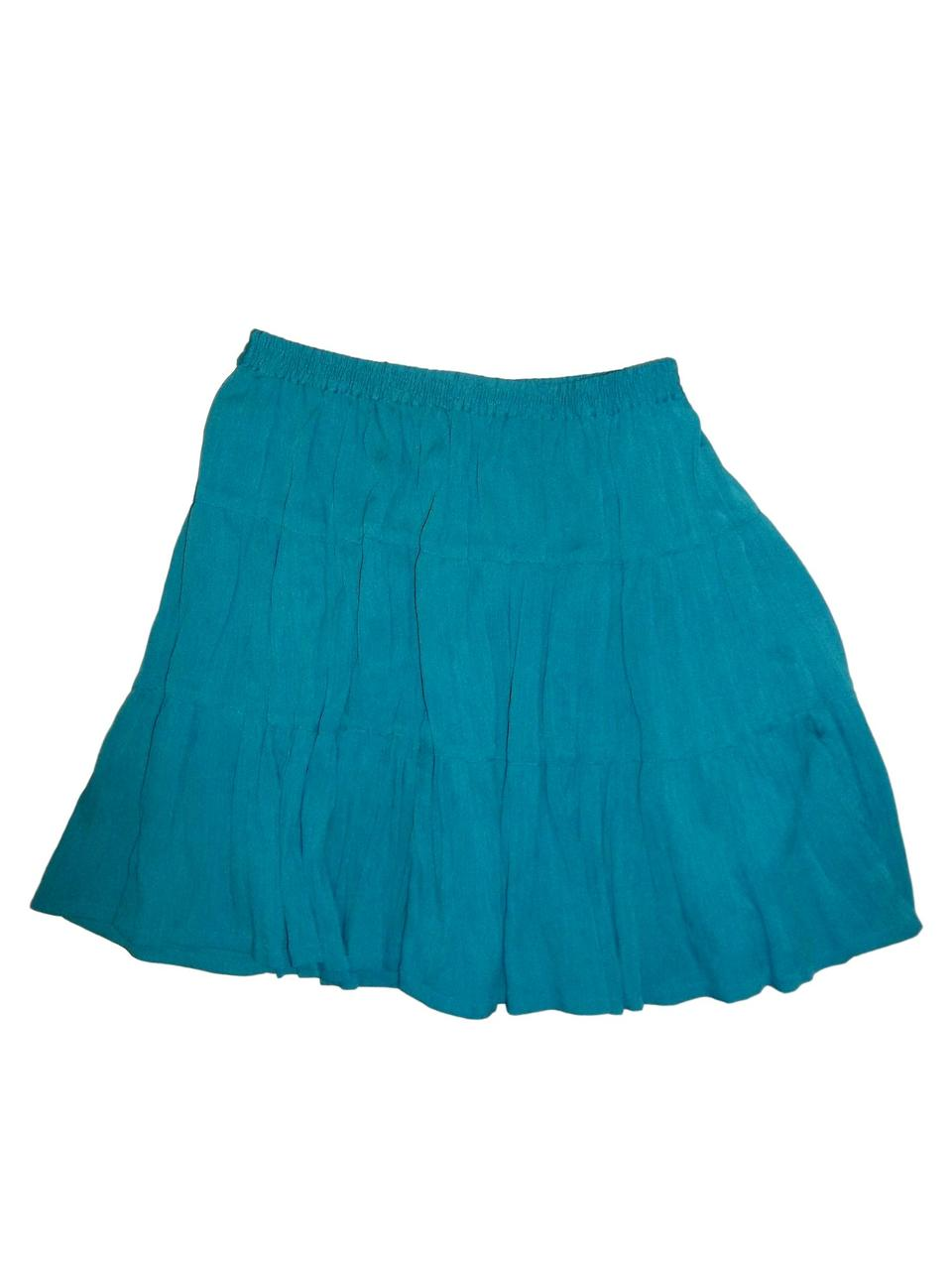 Short Polybrepe Broomed Skirt