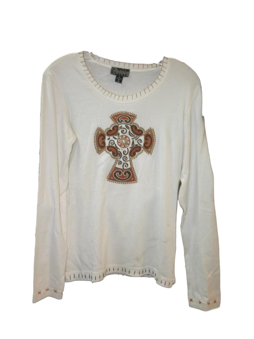 Embroidered Cross L/S Shirt