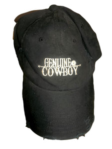 Genuine Cowboy black baseball cap