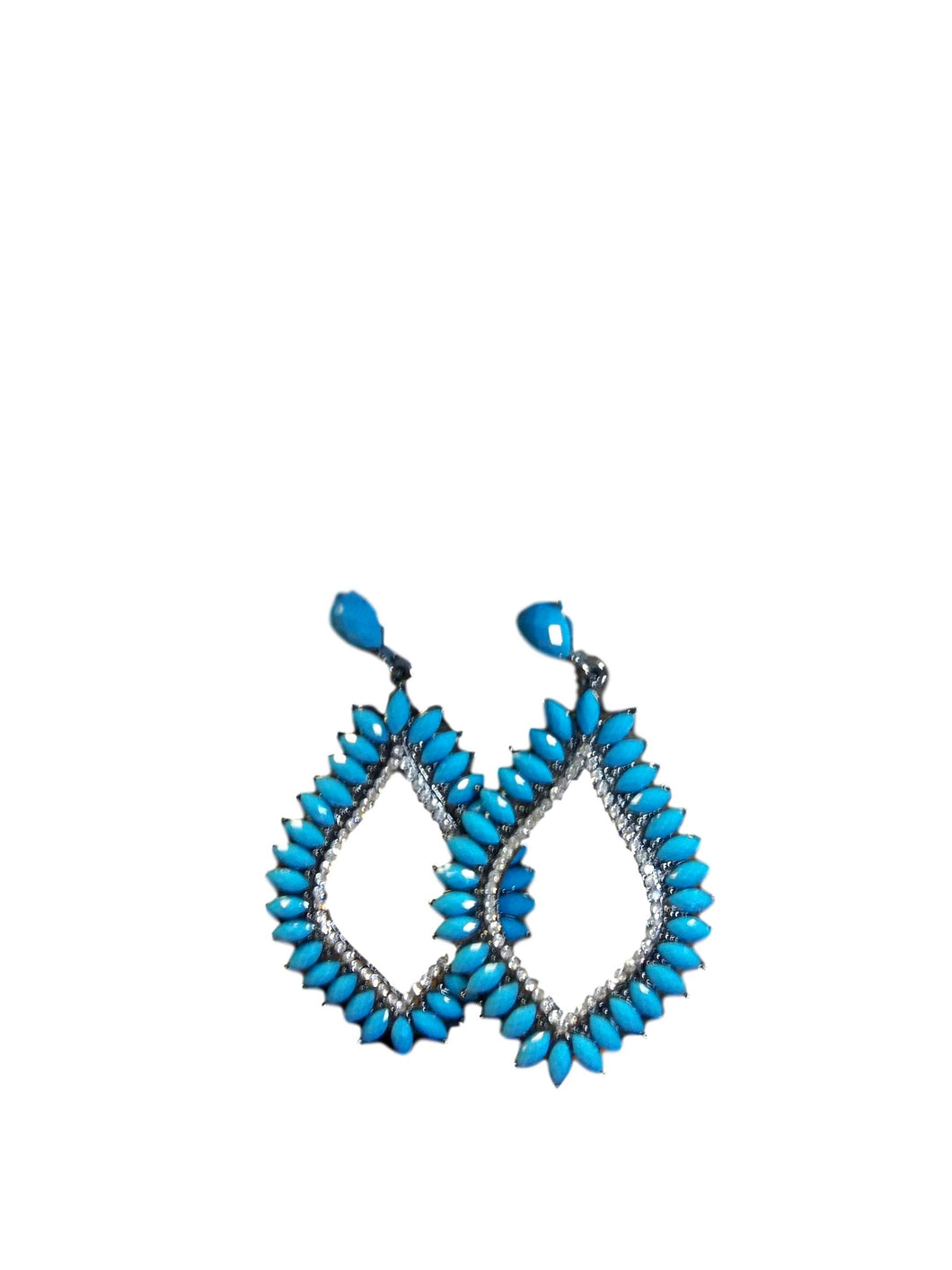 attitude turquoise earrings