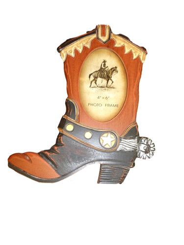 cowboy boot photo frame