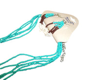 Load image into Gallery viewer, Long Teal/Brown/White Necklace