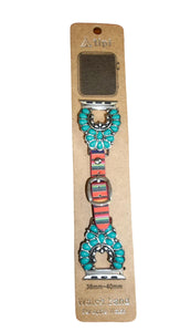 Serape & Turquoise Apple Watch Band