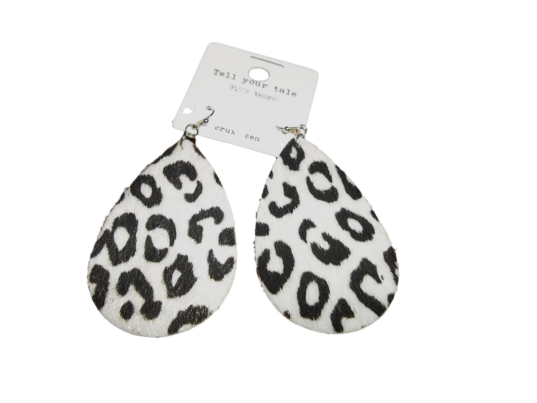 Cheetah Oval Earrings