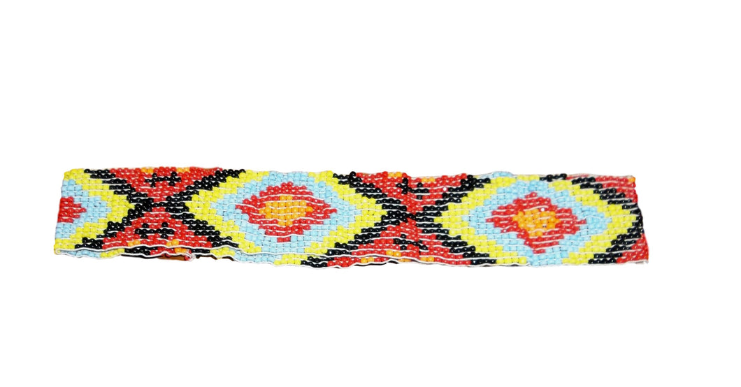 Red/Blue/Orange/Yellow Diamond Beaded Headband
