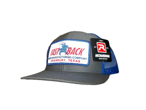 Fastback Grey Mesh Back Patch Ball Cap
