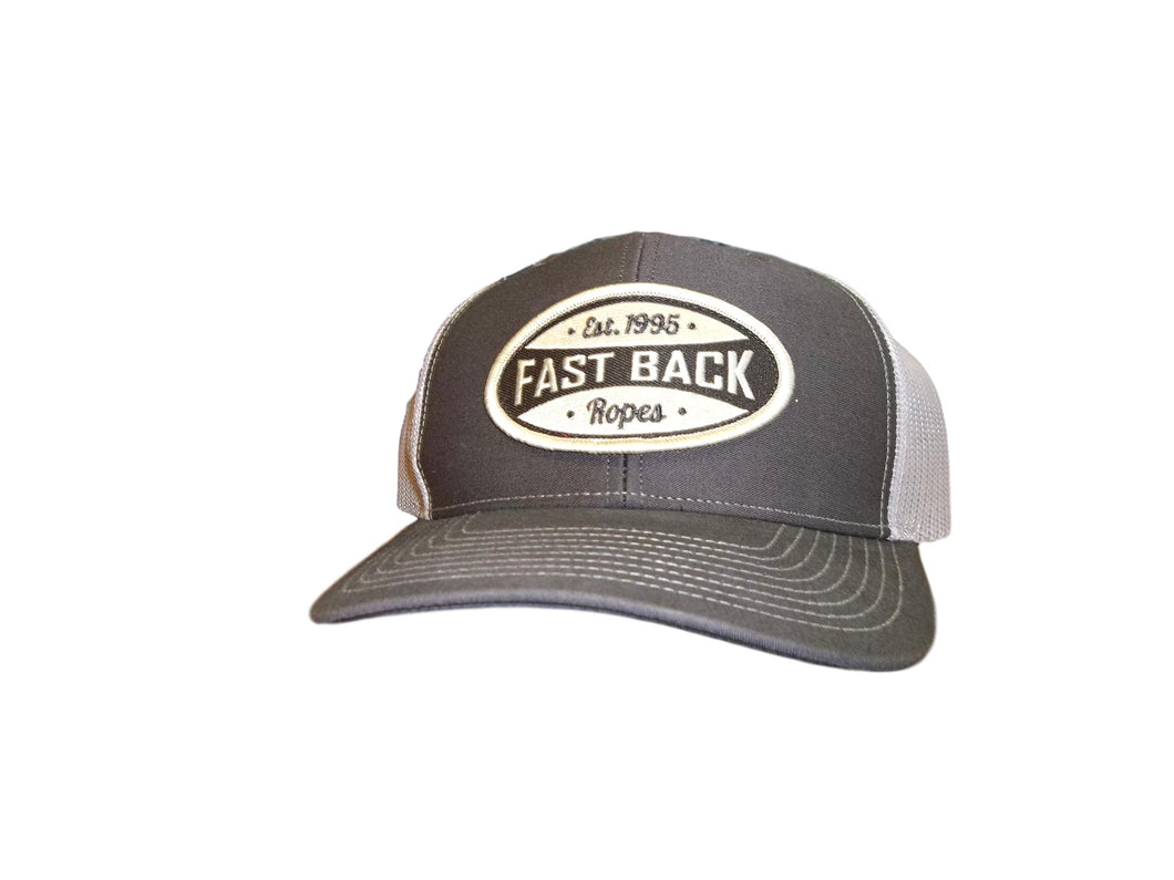 Fastback Brown & Tan Oval Patch Ball Cap